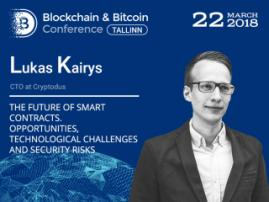 CTO of Cryptodus Lukas Kairys will tell everything you need to know about smart contracts at B&BC Tallinn