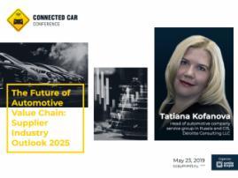 Deloitte's Analytics About Changes in Automotive Supply Scenarios: Presentation by Tatiana Kofanova