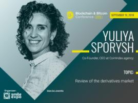 Derivatives on crypto market: reality and expectations. Yuliya Sporysh at Blockchain & Bitcoin Сonference Kyiv
