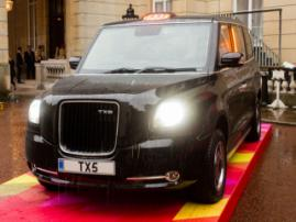 Electric cars are substituting British cabs. In London, there will be 150 of them by the end of 2018