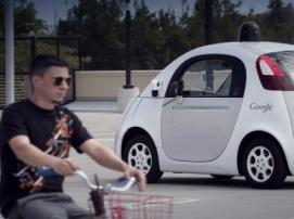 Жесты велосипедистов распознает автопилот Google