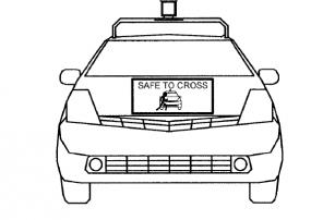 Google запатентовал систему общения гугломобилей с пешеходами