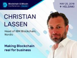 IBM representative Christian Lassen to speak at Blockchain & Bitcoin Conference Finland