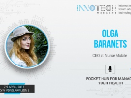 "InnoTech 2017 speaker is Olga Baranets, CEO of ""Mobile Nurse"" application"