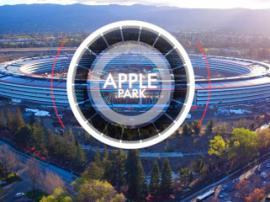 Инновационный кампус Apple Park: вид с квадрокоптера