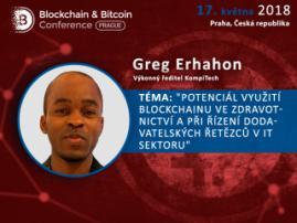 Jak lze využít blockchain v oblasti IT a zdravotnictví? Praktické příklady CEO KompiTech Grega Erhahona