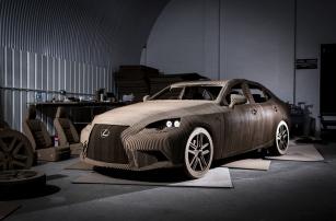 Картонный автомобиль от Lexus
