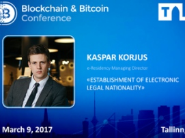 Kaspar Korjus, leader of Forbes fintech rating and Director of e-Residency project, will speak at Blockchain Conference Tallinn