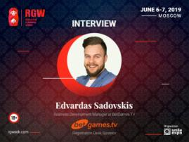 Key Advantage Is Quality, Experience and Strategy. Interview with Edvardas Sadovskis, Business Development Manager at BetGames.TV