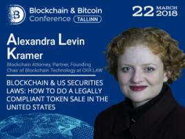Legally compliant token sale in the case study of the US. Blockchain Attorney Alexandra Levin Kramer to deliver a speech