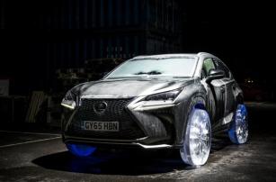 Lexus NX стал первой в мире машиной с ледяными колесами