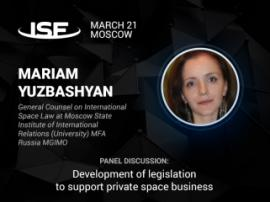 Mariam Yuzbashyan to speak about the legal aspects of the space business at InSpace Forum 2018