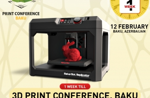 One week left to the beginning of 3D Print Conference. Baku!