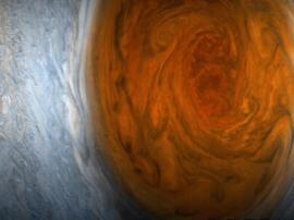 The first photos of Jupiter's great red spot