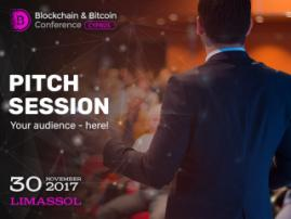 Pitch session at Blockchain & Bitcoin Conference Cyprus