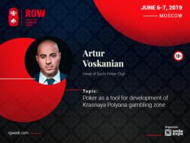 Poker as a Driver of Growth in Krasnaya Polyana Gambling Zone. Presentation of Artur Voskanian, Founder of Poker Club Management