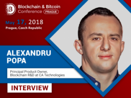 Prague is a paradise for cryptocurrency investors - Alexandru Popa, CA Technologies