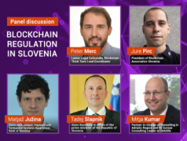 Prospects of blockchain regulation in Slovenia at panel discussion of Blockchain & Bitcoin Conference Slovenia