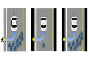 Психологи будут учить автомобили правильно сбивать пешеходов