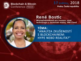 René Bostic, americká expertka na cloudové technologie, promluví na konferenci Blockchain & Bitcoin Conference Prague