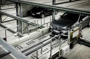 Самый большой роботизированный паркинг в Европе