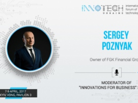 Sergey Poznyak, FGK Financial Group founder, is a moderator of InnoTech 2017 conference