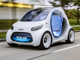 Smart Vision EQ Fortwo, a driverless vehicle for carsharing