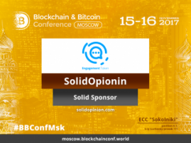 SolidOpinion – Solid Sponsor at Blockchain & Bitcoin Conference Moscow