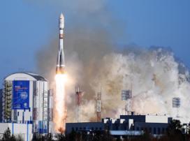 «Союз-2.1а» вышла на космическую орбиту с 11 космоустройствами