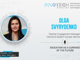Speaker at InnoTech 2017 Olga Svyrydenko: education as a currency of the future