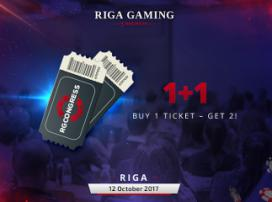 Special offer for tickets to Riga Gaming Congress: two-for-one!