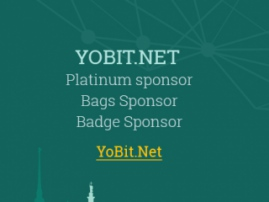 Sponsor of Blockchain & Bitcoin Conference is YoBit.Net