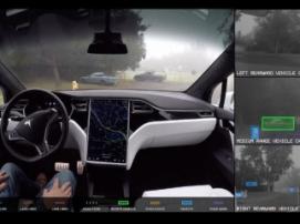 Tesla Motors продемонстрировала систему автономного вождения