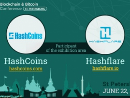 Test the HashCoins equipment at Blockchain & Bitcoin Conference