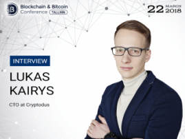 The main aim of Cryptodus is to create unseen business models through Blockchain – Lukas Kairys, Cryptodus