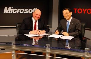 Toyota и Microsoft будут сотрудничать, чтобы развивать функциональность подключённых автомобилей