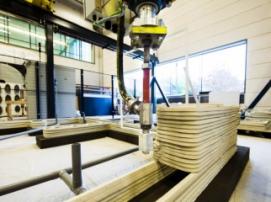 В Нидерландах на 3D-принтере напечатают уникальный бетонный дом