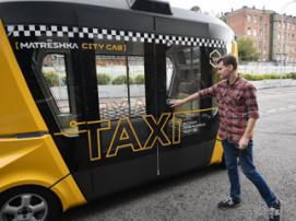 Russia unveils first driverless bus MatrЁshka