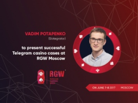 Vadim Potapenko (Slotegrator) to present successful Telegram casino cases at RGW Moscow