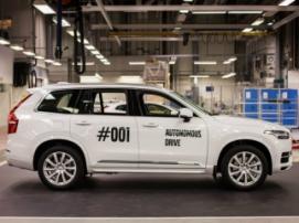 Volvo протестирует первый беспилотный внедорожник XC90