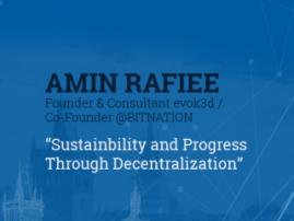 Why Bitcoin is a synonym to progress. Presentation by Bitnation's representative Amin Rafiee
