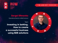 Investing in betting – a presentation by operations director of BetConstruct at RGW Moscow