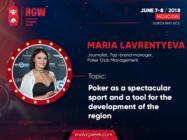 Poker as a sport and region development tool: Maria Lavrentyeva at RGW 2018