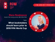 What bookmakers should learn prior to 2018 FIFA World Cup. Presentation of business coach Elena Rasskasova