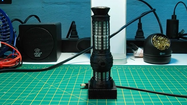 3D printing a blue Star Trek table lamp