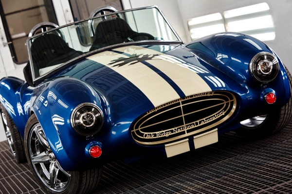 ORNL 3D printed a full-scale Shelby Cobra replica, a highlight of Obama visit