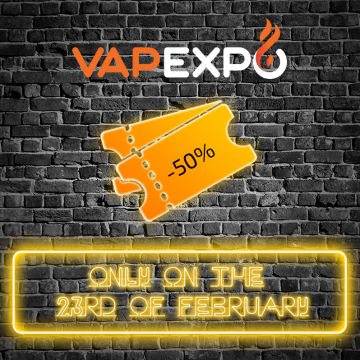 50% discount at VAPEXPO Spb 2017 in honor of Defender of the Fatherland Day! Promotion conditions