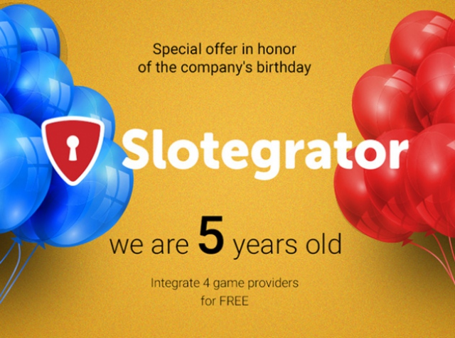 A special offer timed to Slotegrator´s birthday!