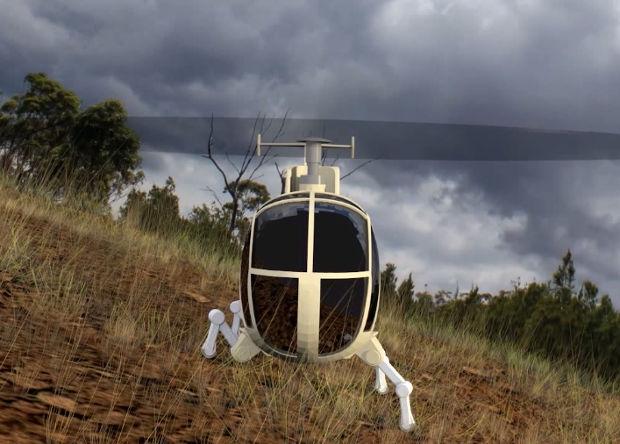 Американцы создали шасси-робота для вертолета