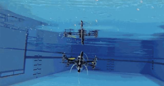 Американцы создали воздушно-подводный квадрокоптер